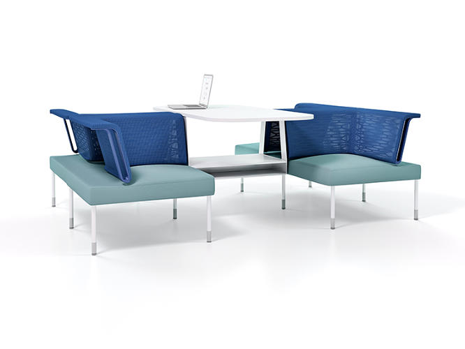 <p>Herman Miller asked Béhar to design social work furniture two years ago. But fuseproject has been experimenting with the idea in-house for 11 years now.</p>