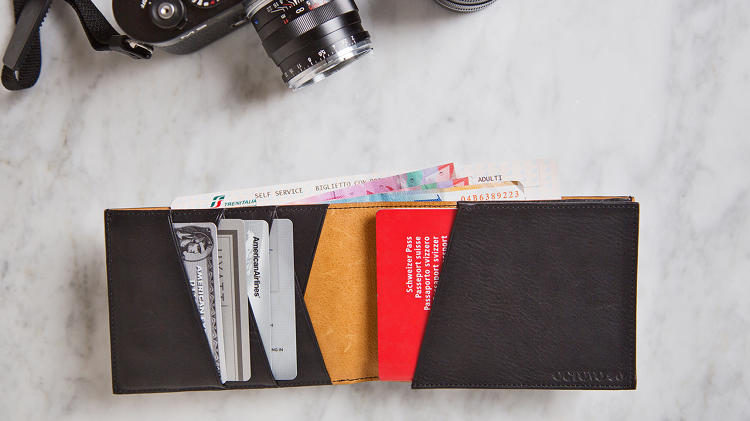 <p>There is also a more traditional Travel Wallet in the line, which is big enough for passports.</p>