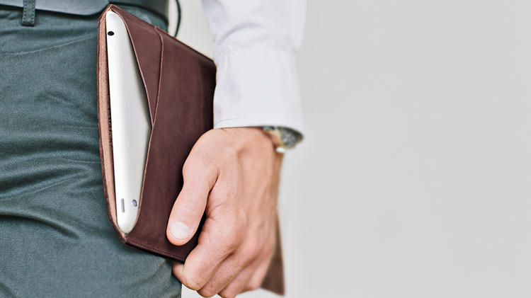 <p>There is also an iPad Mini sleeve, and the leather comes in four colors.</p>