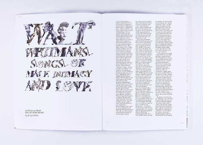 <p>A display font for headings, Heroic Caledonia Men's, resurrects the idealized bodies of the ancient world: a fallen angel's roaring marble head is cut in the shape of an L; a scrap of a Da Vinci anatomical drawing merges with a Greek kouros in a D.</p>