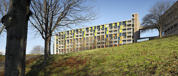<p>A different kind of castle, the post-war Brutalist kind, Park Hill was designed and built as a council estate in the late '50s. The structure fell into disrepair and is in the process of a splashy redevelopment.</p>