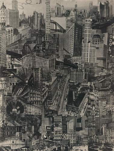 <p>Gadanho hopes that through collage, architects can reconnect back to and participate in a broader cultural context.</p>  <p>Above: 'Metropolis', 1923, by Paul Citroen</p>