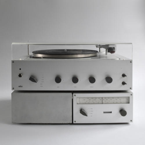 <p>Braun Studio Studio 2: Braun CE 11, CV 11, CS 11 (Dieter Rams, 1959). The unapologetic, earnest materials were a hallmark of functionalism. So much metal balked in the face of living-room-friendly wood trends.</p>