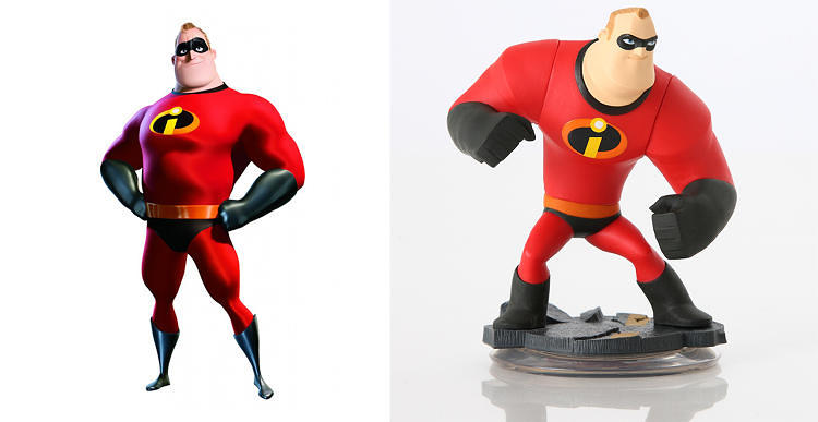 "<p>Ultimately, Bunker and Lasseter chose a style that conveys toy characteristics through subtle details. Characters' feet appear larger than normal, for instance, in order to mimic action figures, which need a large base in order to stand on their own. Designers also added seams to the characters' bodies and programmed them to emphasize movements at joints like toys during resting points in the game. ""It's just a matter of simplification and attention to detail,"" Bunker says.</p>"