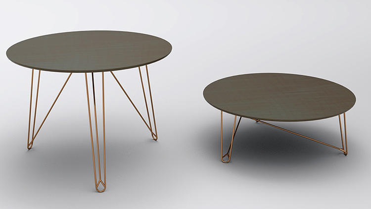 <p>This table operates at two different heights (transforming from coffee table to kitchen table in moments).</p>
