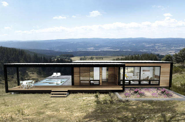 These gorgeous sustainable pre fab houses fit in a shipping container co exist ideas impact - Ft container home ...