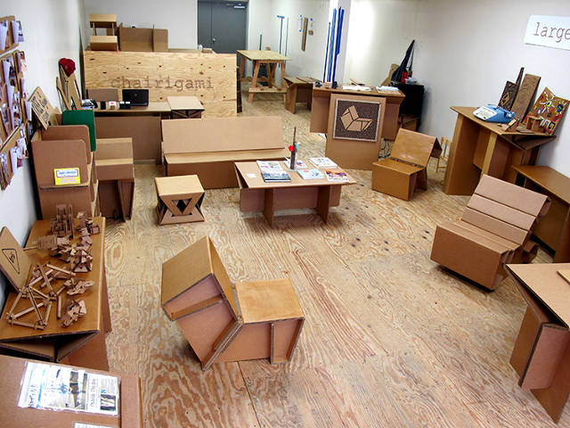 so for his senior project rotholz designed an entire modular furniture system made out of cardboard it was specifically for college students cardboard furniture for sale