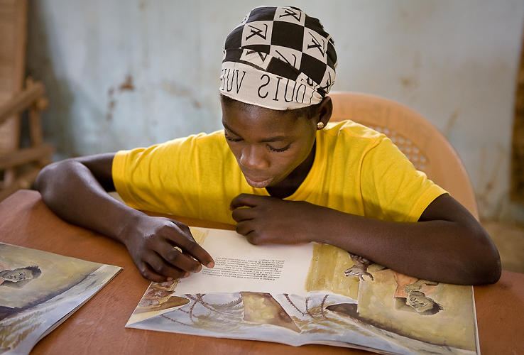 <p>The Bereba library in southwest Burkina Faso has become a hub for inclusive educational activities. It hosts regular HIV/AIDS film screenings and annual summer reading camps for rural children. Equipped with a solar panel that allows patrons to read at night, the library has recently distributed 280 solar lanterns in seven nearby villages to use as reading lanterns.</p>