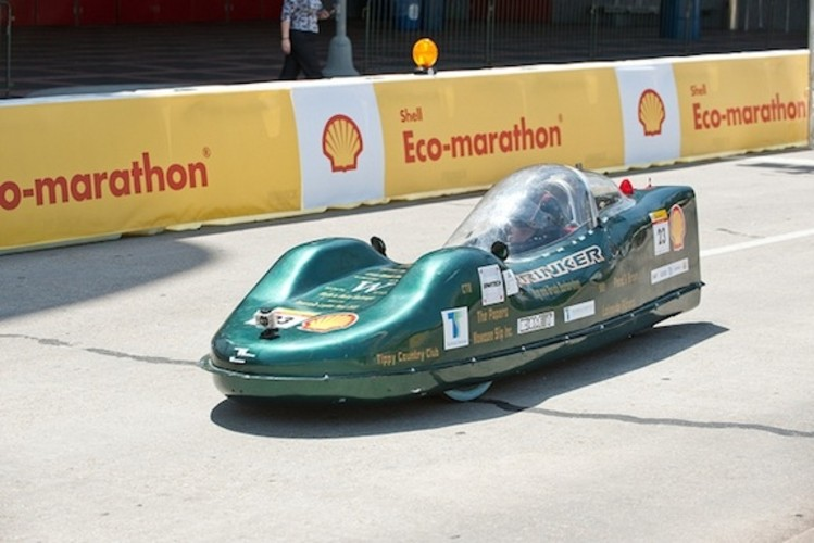 <p>Wawasee High School's gasoline-powered entry scored 879 mpg on its best run.</p>