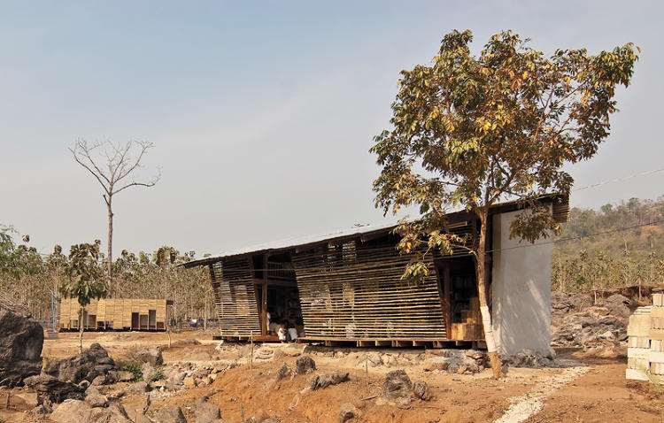 <p>This library--part of the Safe Haven Orphanage--was built in just two weeks using only local material and labor. The simple bamboo facade and plastered concrete blocks, designed by <a href=&quot;http://www.tyintegnestue.no/&quot; target=&quot;_blank&quot;>TYIN Tegnestue Architects</a>, serve as natural temperature regulators, while the open architecture creates an inviting place for the children in the orphanage to read and play.</p>