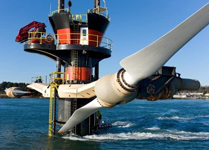 <p>This giant &quot;underwater windmill&quot; has the capacity to generate power for 1,500 homes, according to its developer <a href=&quot;http://www.marineturbines.com/News/2012/09/05/world-leading-tidal-energy-system-achieves-5gwh-milestone&quot; target=&quot;_blank&quot;>Marine Current Turbines</a>, now owned by Siemens.</p>