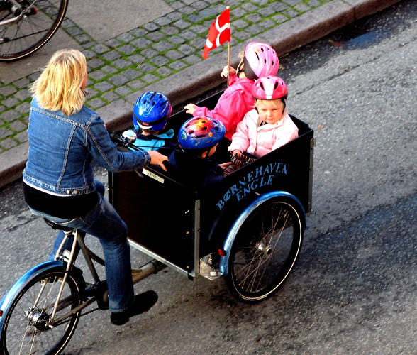 <p>Besides cargo, bikes are also excellent at carrying children.</p>
