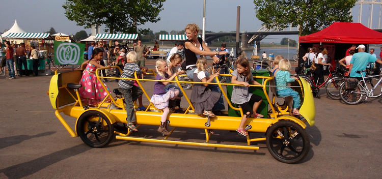 <p>In the Netherlands, bikes abound. And now, they even take kids to school. <a href=&quot;http://www.fastcoexist.com/1679248/dutch-kids-pedal-their-own-bus-to-school&quot; target=&quot;_self&quot;>Behold, the bicycle school bus</a>.</p>