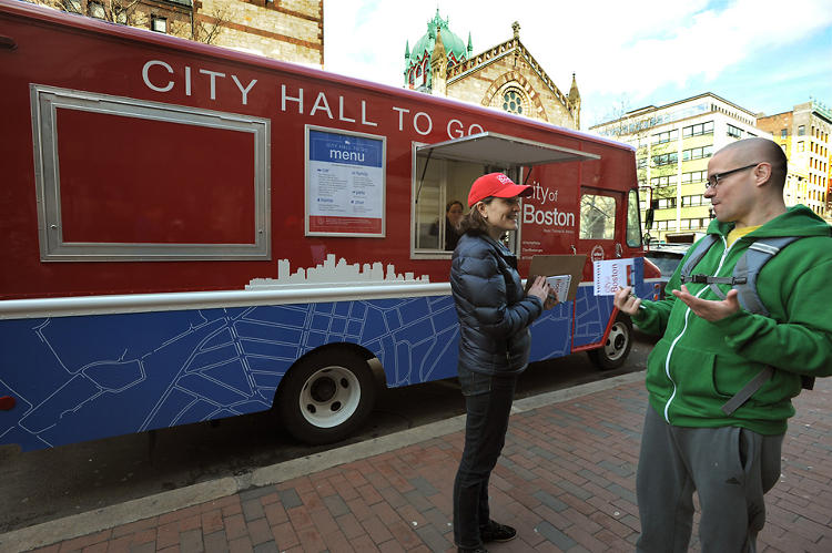 <p>Residents can visit the truck to get a dog license, dispute a parking ticket, register to vote, and even get a birth certificate.</p>