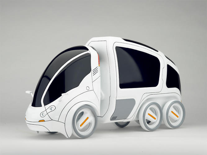 <p>The reference design for the vehicle is GM and Segway's Project P.U.M.A.</p>