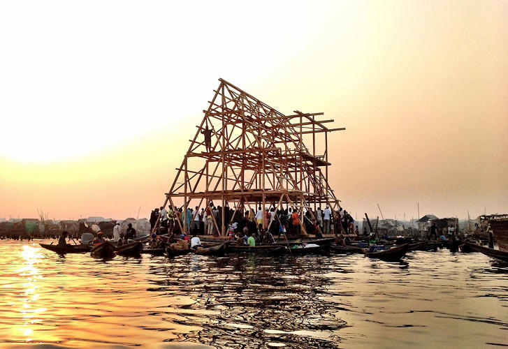 <p>Makoko is home to about 250,000 people living mostly in makeshift structures on stilts. The main mode of transport is canoe, and the area is at constant risk of flooding.</p>