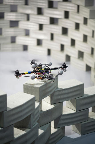 <p>They presented the concept by using quadcopters to assemble a model, brick by brick.</p>