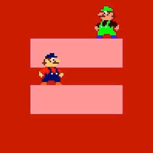 <p>Mario and Luigi for marriage equality.</p>