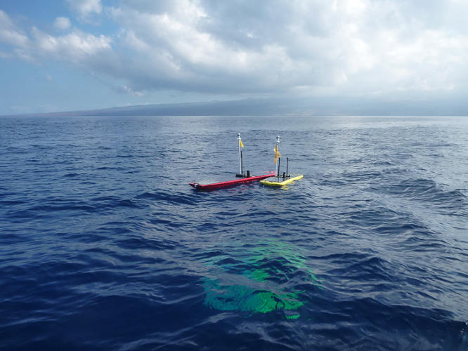 <p>Instead of propelling itself by wave power alone, the SV3 uses a combination of wave and solar power</p>