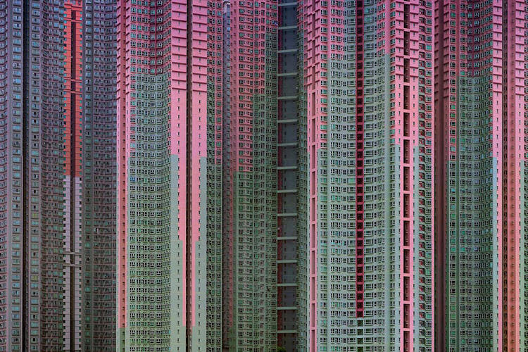 <p>Michael Wolf's book, <em>Architecture of Density</em>, explores the skyline of Hong Kong.</p>