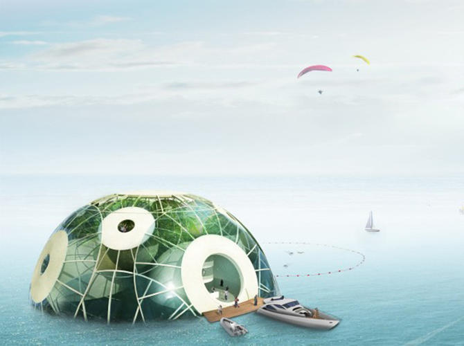 <p>The French design firm Sitbon has designed an underwater aquatic pod called Bloom.</p>