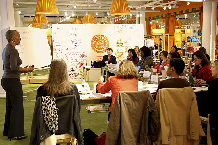 <p>Every year 10 fellows work collectively to arrive at their own definition of &quot;social venture,&quot; with each women committing $5,000 toward a collective $50,000 investment (in exchange for equity in the venture).</p>
