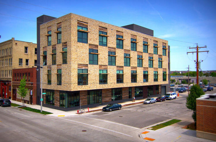 <p>Built by Continuum Architects + Planners, this 30,370 square foot building in Milwaukee, Wisconsin, is mixed-use--non-profit health care organizations share the space with an ice cream store and an artisan cheesemaker.</p>