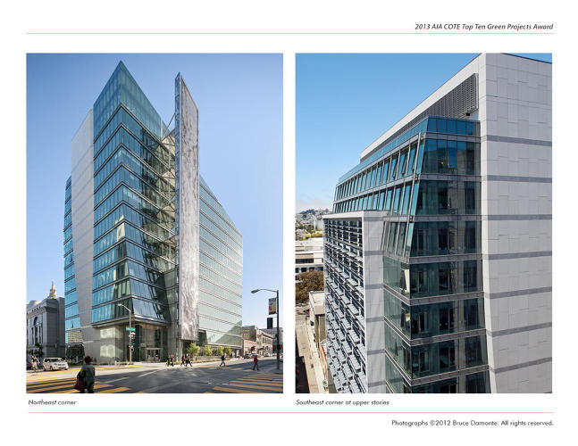 <p>The San Francisco Public Utilities Commission Headquarters, designed by KMD Architects, was created with the goal of being &quot;the greenest urban building in the United States.&quot;</p>