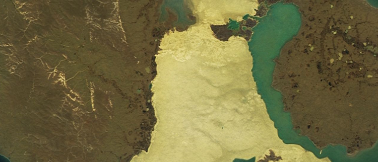 <p>&quot;Off the northern coast of Siberia are a number of large islands. Between two of them is a highly unusual landmass called Bunge Land, an occasionally flooded sand island one and a half times the size of Rhode Island.&quot;</p>