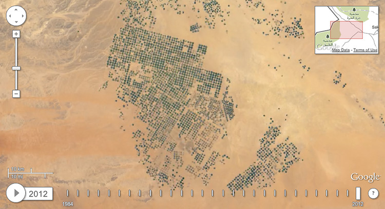 <p>And in 2012. <a href=&quot;http://earthengine.google.org/#intro/SaudiArabiaIrrigation&quot; target=&quot;_blank&quot;>See the whole time-lapse here</a>.</p>