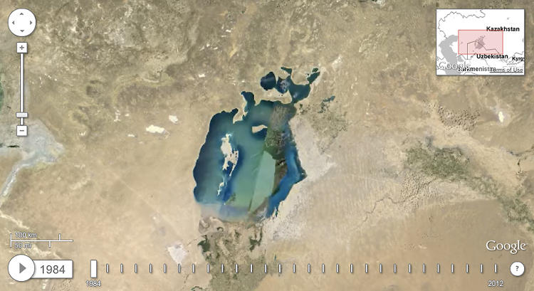 <p>This is the central Asian Aral Sea in 1988.</p>