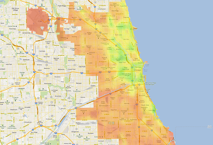 <p>10: Chicago (Bike Score: 61.5)</p>
