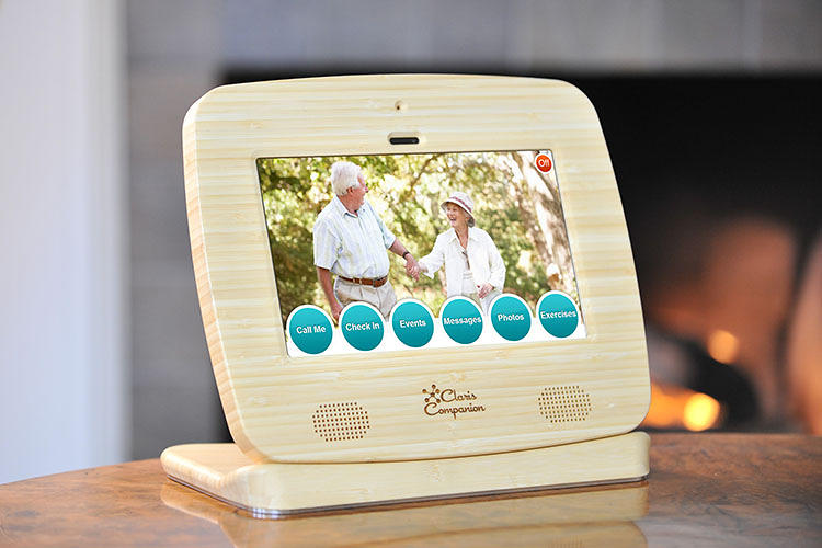 <p>They can also set up a &quot;check-in&quot; notification, which the elderly user clicks in the mornings to let their relatives know they're doing okay. And the elderly can unintrusively ask for a phone call with a click of a button.</p>