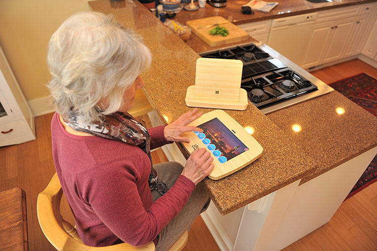 <p>Relatives can remotely manage their parents' appointments or upload photos to their tablets through the Companion's back end, accessible through any browser.</p>