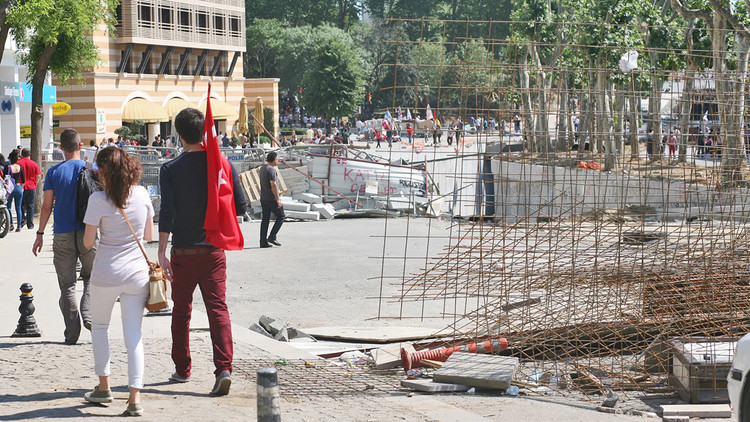 <p>The main police strategy so far has been to wash the protesters away with powerful water cannons mounted on heavy vehicles.</p>