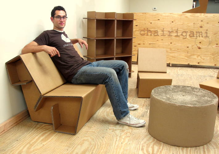 pthats because its made entirely out of thick triple wall cardboard cardboard furniture for sale