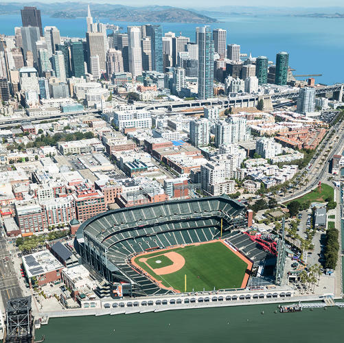 <p>Here's San Francisco's AT&amp;T Park today.</p>