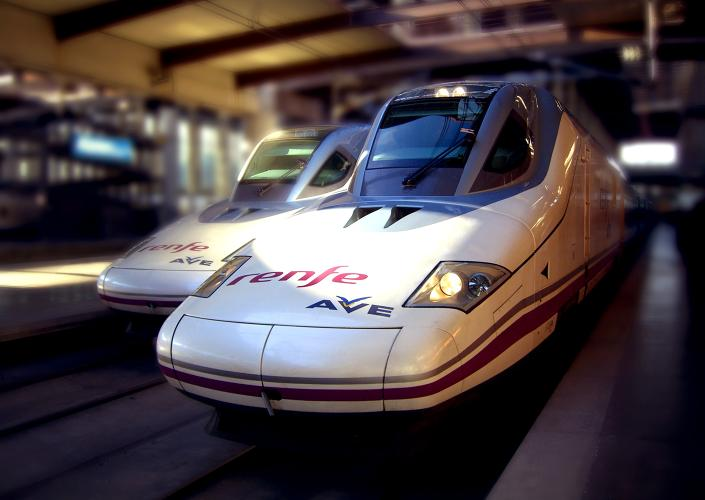 <p>Spain's top-speed train goes about 186 mph and can get you from Madrid to Barcelona in less than three hours.</p>