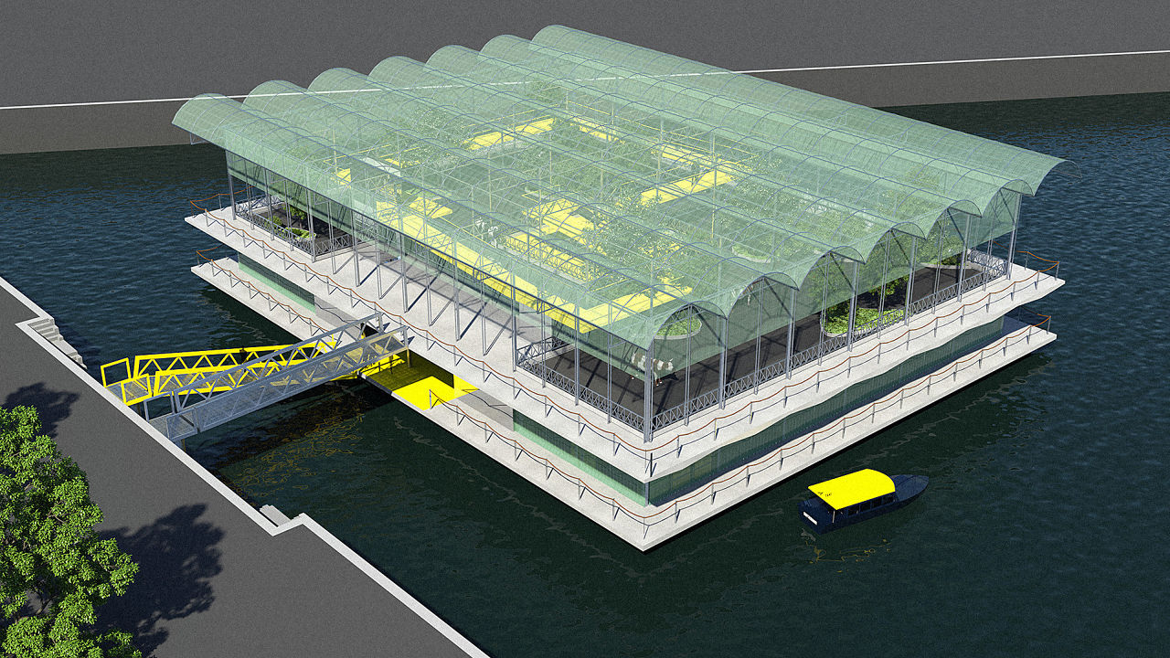 Construction of a floating dairy farm which is expected to commence
