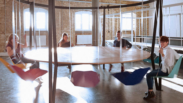 Would Sitting In A Fun Swing Make Your Stupid Meetings