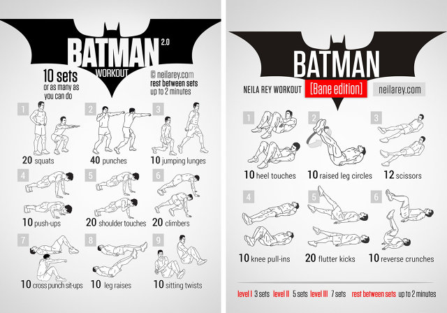 Now You Can Work Out Like A Lannister Or A Jedi Or Thor With These Pop Culture Exercise Plans