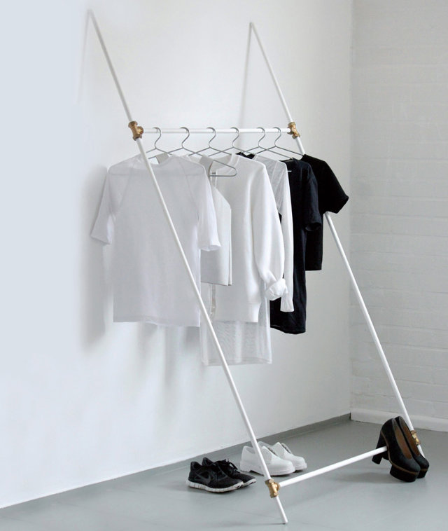 how to make your own piping cloting rack