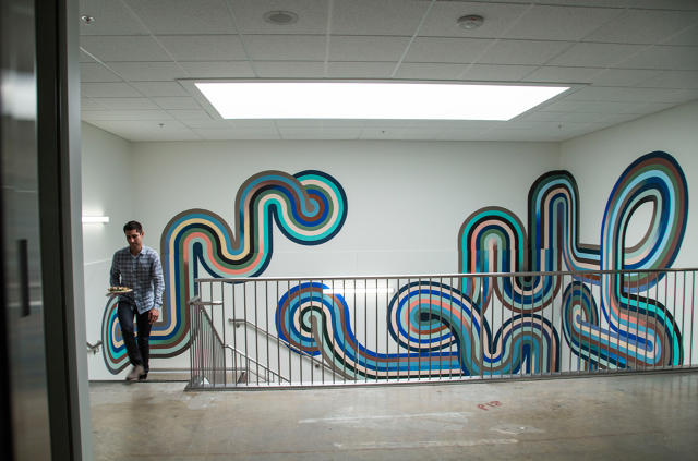 facebook has an artist in residency program drew bennett director of the program says having physical art in the office is important at a company where artist office
