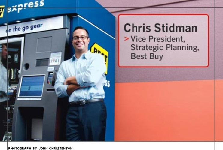 <p> Chris Stidman, 39, developed Best Buy Express, a self-service kiosk that sells tech gadgets, accessories, and gift cards. So far this year, he has rolled out 12 of the kiosks at eight U.S. airports, including Atlanta, Dallas, Los Angeles, and San Francisco.  </p>
