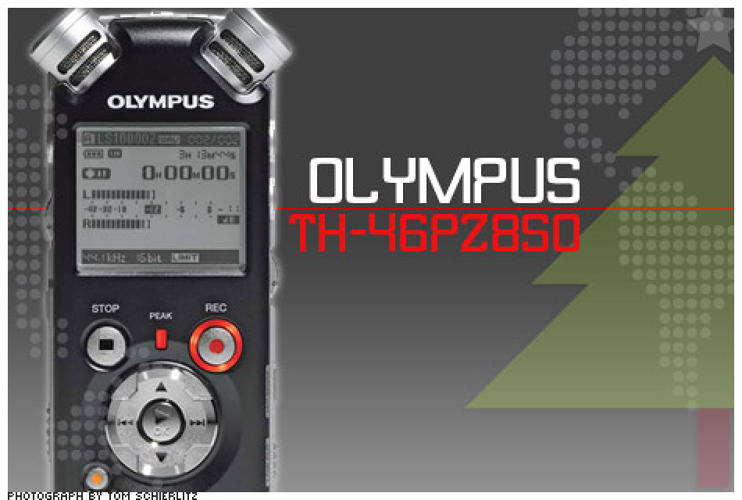<p>Recording in uncompressed 24 bit/96 kHz digital stereo makes the LS-10's recordings higher in sound quality than a CD's. Your old tape deck will slink away in embarrassment. The durable, 5.8-ounce aluminum body houses 2 GB of built-in solid-state memory--up to 12 hours of audio--but also has an SD-card slot for even more capacity.</p>  <p>Price: $399<br /> More Info: <a href=&quot;http://www.olympusamerica.com/cpg_section/product.asp?product=1350&quot; target=&quot;_new&quot;>Olympus LS-10</a></p>