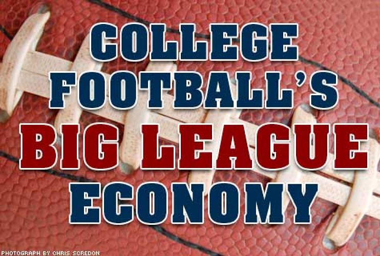 <p>The College Football economy is worth an estimated yearly <strong>$6 BILLION</strong>, and in 2007, the <strong>619 SCHOOLS</strong> competing in <strong>NCAA FOOTBALL</strong> tallied a total attendance of <strong>48,751,861</strong>.</p>