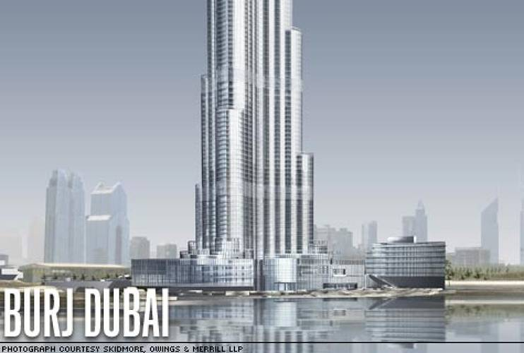 <p><strong>Location:</strong> Dubai, United Arab Emirates<br /> <strong>Estimated completion date:</strong> 2009<br /> <strong>Big idea:</strong> World's tallest tower. (The exact height is a secret, but it will top 2,320 feet.)<br /> <strong>Dazzle factor:</strong> Design inspired by local desert flora and patterns characteristic of Islamic architecture. </p>