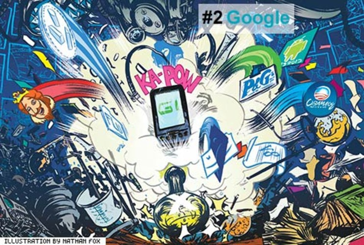 <p>Google may have gotten tougher on revenue-challenged projects and scaled back perks somewhat (people, the free meals are for employees who are working late, not takeout for folks headed home), but the company doesn't lack for ambition. Looking at the breadth of its accomplishments last year, you can't help but imagine that lurking beneath the Googleplex is a secret lab exploding with ideas: Android, Chrome, and even Flu Trends.</p>  <p><a href=&quot;http://www.fastcompany.com/fast50_09/profile/list/google&quot; target=&quot;_new&quot; title=&quot;Google&quot;>-- Read the Full Profile</a></p> <p><strong>The Fast Company 50 Navigation:</strong><br /> <a href=&quot;http://www.fastcompany.com/multimedia/slideshows/content/2009-fast-company-50.html?page=2&quot; title=&quot;Team Obama&quot;>01</a> | <a href=&quot;http://www.fastcompany.com/multimedia/slideshows/content/2009-fast-company-50.html?page=3&quot; title=&quot;Google&quot;>02</a> | <a href=&quot;http://www.fastcompany.com/multimedia/slideshows/content/2009-fast-company-50.html?page=4&quot; title=&quot;Hulu&quot;>03</a> | <a href=&quot;http://www.fastcompany.com/multimedia/slideshows/content/2009-fast-company-50.html?page=5&quot; title=&quot;Apple&quot;>04</a> | <a href=&quot;http://www.fastcompany.com/multimedia/slideshows/content/2009-fast-company-50.html?page=6&quot; title=&quot;Cisco Systems&quot;>05</a> | <a href=&quot;http://www.fastcompany.com/multimedia/slideshows/content/2009-fast-company-50.html?page=7&quot; title=&quot;Intel&quot;>06</a> | <a href=&quot;http://www.fastcompany.com/multimedia/slideshows/content/2009-fast-company-50.html?page=8&quot; title=&quot;Pure Digital Technologies&quot;>07</a> | <a href=&quot;http://www.fastcompany.com/multimedia/slideshows/content/2009-fast-company-50.html?page=9&quot; title=&quot;WuXi PharmaTech&quot;>08</a> | <a href=&quot;http://www.fastcompany.com/multimedia/slideshows/content/2009-fast-company-50.html?page=10&quot; title=&quot;Amazon&quot;>09</a> | <a href=&quot;http://www.fastcompany.com/multimedia/slideshows/content/2009-fast-company-50.html?page=11&quot; title=&quot;Ideo&quot;>10</a> <br /> <a href=&quot;http://www.fastcompany.com/multimedia/slideshows/content/2009-fast-company-50.html?page=12&quot; title=&quot;GE&quot;>11</a> | <a href=&quot;http://www.fastcompany.com/multimedia/slideshows/content/2009-fast-company-50.html?page=13&quot; title=&quot;Hewlett-Packard&quot;>12</a> | <a href=&quot;http://www.fastcompany.com/multimedia/slideshows/content/2009-fast-company-50.html?page=14&quot; title=&quot;Nokia&quot;>13</a> | <a href=&quot;http://www.fastcompany.com/multimedia/slideshows/content/2009-fast-company-50.html?page=15&quot; title=&quot;Gilead Sciences&quot;>14</a> | <a href=&quot;http://www.fastcompany.com/multimedia/slideshows/content/2009-fast-company-50.html?page=16&quot; title=&quot;Facebook&quot;>15</a> | <a href=&quot;http://www.fastcompany.com/multimedia/slideshows/content/2009-fast-company-50.html?page=17&quot; title=&quot;NextEra Energy Resources&quot;>16</a> | <a href=&quot;http://www.fastcompany.com/multimedia/slideshows/content/2009-fast-company-50.html?page=18&quot; title=&quot;Q-Cells&quot;>17</a> | <a href=&quot;http://www.fastcompany.com/multimedia/slideshows/content/2009-fast-company-50.html?page=19&quot; title=&quot;First Solar&quot;>18</a> | <a href=&quot;http://www.fastcompany.com/multimedia/slideshows/content/2009-fast-company-50.html?page=20&quot; title=&quot;IBM&quot;>19</a> | <a href=&quot;http://www.fastcompany.com/multimedia/slideshows/content/2009-fast-company-50.html?page=21&quot; title=&quot;Zappos&quot;>20</a> <br /> <a href=&quot;http://www.fastcompany.com/multimedia/slideshows/content/2009-fast-company-50.html?page=22&quot; title=&quot;Nintendo&quot;>21</a> | <a href=&quot;http://www.fastcompany.com/multimedia/slideshows/content/2009-fast-company-50.html?page=23&quot; title=&quot;Disney&quot;>22</a> | <a href=&quot;http://www.fastcompany.com/multimedia/slideshows/content/2009-fast-company-50.html?page=24&quot; title=&quot;Crispin Porter + Bogusky&quot;>23</a> | <a href=&quot;http://www.fastcompany.com/multimedia/slideshows/content/2009-fast-company-50.html?page=25&quot; title=&quot;TBWA\Worldwide&quot;>24</a> | <a href=&quot;http://www.fastcompany.com/multimedia/slideshows/content/2009-fast-company-50.html?page=26&quot; title=&quot;New England Sports Ventures&quot;>25</a> | <a href=&quot;http://www.fastcompany.com/multimedia/slideshows/content/2009-fast-company-50.html?page=27&quot; title=&quot;DSM&quot;>26</a> | <a href=&quot;http://www.fastcompany.com/multimedia/slideshows/content/2009-fast-company-50.html?page=28&quot; title=&quot;Nike&quot;>27</a> | <a href=&quot;http://www.fastcompany.com/multimedia/slideshows/content/2009-fast-company-50.html?page=29&quot; title=&quot;NPR&quot;>28</a> | <a href=&quot;http://www.fastcompany.com/multimedia/slideshows/content/2009-fast-company-50.html?page=30&quot; title=&quot;Barbarian Group&quot;>29</a> | <a href=&quot;http://www.fastcompany.com/multimedia/slideshows/content/2009-fast-company-50.html?page=31&quot; title=&quot;W.L. Gore & Associates&quot;>30</a> <br /> <a href=&quot;http://www.fastcompany.com/multimedia/slideshows/content/2009-fast-company-50.html?page=32&quot; title=&quot;Busboy Productions&quot;>31</a> | <a href=&quot;http://www.fastcompany.com/multimedia/slideshows/content/2009-fast-company-50.html?page=33&quot; title=&quot;Skidmore, Owings & Merrill&quot;>32</a> | <a href=&quot;http://www.fastcompany.com/multimedia/slideshows/content/2009-fast-company-50.html?page=34&quot; title=&quot;Wal-Mart&quot;>33</a> | <a href=&quot;http://www.fastcompany.com/multimedia/slideshows/content/2009-fast-company-50.html?page=35&quot; title=&quot;Microsoft&quot;>34</a> | <a href=&quot;http://www.fastcompany.com/multimedia/slideshows/content/2009-fast-company-50.html?page=36&quot; title=&quot;Ubisoft&quot;>35</a> | <a href=&quot;http://www.fastcompany.com/multimedia/slideshows/content/2009-fast-company-50.html?page=37&quot; title=&quot;Vestas&quot;>36</a> | <a href=&quot;http://www.fastcompany.com/multimedia/slideshows/content/2009-fast-company-50.html?page=38&quot; title=&quot;Chevron Energy Solutions&quot;>37</a> | <a href=&quot;http://www.fastcompany.com/multimedia/slideshows/content/2009-fast-company-50.html?page=39&quot; title=&quot;CAA&quot;>38</a> | <a href=&quot;http://www.fastcompany.com/multimedia/slideshows/content/2009-fast-company-50.html?page=40&quot; title=&quot;L-3 Communications&quot;>39</a> | <a href=&quot;http://www.fastcompany.com/multimedia/slideshows/content/2009-fast-company-50.html?page=41&quot; title=&quot;Weta Digital&quot;>40</a> <br /> <a href=&quot;http://www.fastcompany.com/multimedia/slideshows/content/2009-fast-company-50.html?page=42&quot; title=&quot;Lego&quot;>41</a> | <a href=&quot;http://www.fastcompany.com/multimedia/slideshows/content/2009-fast-company-50.html?page=43&quot; title=&quot;Emirates&quot;>42</a> | <a href=&quot;http://www.fastcompany.com/multimedia/slideshows/content/2009-fast-company-50.html?page=44&quot; title=&quot;Genzyme&quot;>43</a> | <a href=&quot;http://www.fastcompany.com/multimedia/slideshows/content/2009-fast-company-50.html?page=45 title=&quot;Etsy&quot;>44</a> | <a href=&quot;http://www.fastcompany.com/multimedia/slideshows/content/2009-fast-company-50.html?page=46&quot; title=&quot;BYD&quot;>45</a> | <a href=&quot;http://www.fastcompany.com/multimedia/slideshows/content/2009-fast-company-50.html?page=47&quot; title=&quot;Warner Music Group&quot;>46</a> | <a href=&quot;http://www.fastcompany.com/multimedia/slideshows/content/2009-fast-company-50.html?page=48&quot; title=&quot;Aravind Eye Care System&quot;>47</a> | <a href=&quot;http://www.fastcompany.com/multimedia/slideshows/content/2009-fast-company-50.html?page=49&quot; title=&quot;Toyota&quot;>48</a> | <a href=&quot;http://www.fastcompany.com/multimedia/slideshows/content/2009-fast-company-50.html?page=50&quot; title=&quot;Pelamis Wave Power&quot;>49</a> | <a href=&quot;http://www.fastcompany.com/multimedia/slideshows/content/2009-fast-company-50.html?page=51&quot; title=&quot;Raser Technologies&quot;>50</a></p>