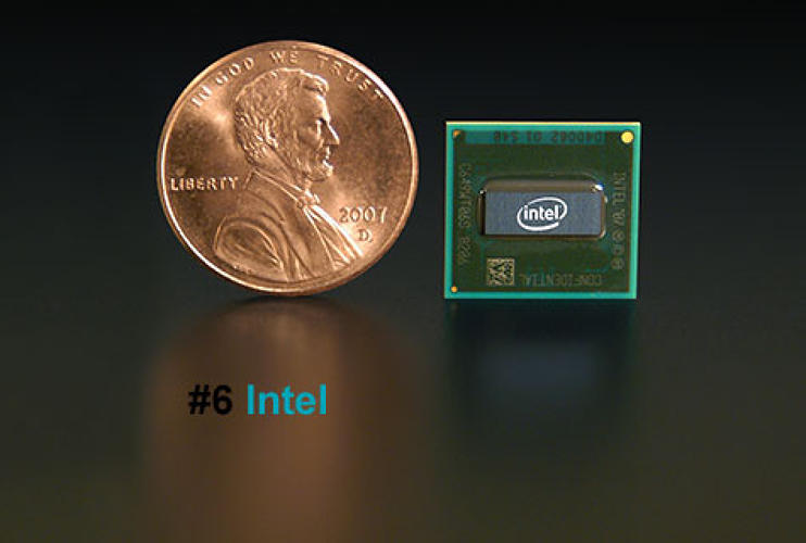 <p>Chipmakers have long raced to churn out more powerful microprocessors. They didn't pay much heed to heat or battery drain, natural side effects of increased processing power -- until Intel released its new Atom this past summer. No faster than previous chips, the teensy Atom instead uses a fraction of the usual battery power -- one-tenth, according to Intel. Therein lies the seed of a revolution.</p>  <p><a href=&quot;http://www.fastcompany.com/fast50_09/profile/list/intel&quot; target=&quot;_new&quot; title=&quot;Intel&quot;>-- Read the Full Profile</a></p> <p><strong>The Fast Company 50 Navigation:</strong><br /> <a href=&quot;http://www.fastcompany.com/multimedia/slideshows/content/2009-fast-company-50.html?page=2&quot; title=&quot;Team Obama&quot;>01</a> | <a href=&quot;http://www.fastcompany.com/multimedia/slideshows/content/2009-fast-company-50.html?page=3&quot; title=&quot;Google&quot;>02</a> | <a href=&quot;http://www.fastcompany.com/multimedia/slideshows/content/2009-fast-company-50.html?page=4&quot; title=&quot;Hulu&quot;>03</a> | <a href=&quot;http://www.fastcompany.com/multimedia/slideshows/content/2009-fast-company-50.html?page=5&quot; title=&quot;Apple&quot;>04</a> | <a href=&quot;http://www.fastcompany.com/multimedia/slideshows/content/2009-fast-company-50.html?page=6&quot; title=&quot;Cisco Systems&quot;>05</a> | <a href=&quot;http://www.fastcompany.com/multimedia/slideshows/content/2009-fast-company-50.html?page=7&quot; title=&quot;Intel&quot;>06</a> | <a href=&quot;http://www.fastcompany.com/multimedia/slideshows/content/2009-fast-company-50.html?page=8&quot; title=&quot;Pure Digital Technologies&quot;>07</a> | <a href=&quot;http://www.fastcompany.com/multimedia/slideshows/content/2009-fast-company-50.html?page=9&quot; title=&quot;WuXi PharmaTech&quot;>08</a> | <a href=&quot;http://www.fastcompany.com/multimedia/slideshows/content/2009-fast-company-50.html?page=10&quot; title=&quot;Amazon&quot;>09</a> | <a href=&quot;http://www.fastcompany.com/multimedia/slideshows/content/2009-fast-company-50.html?page=11&quot; title=&quot;Ideo&quot;>10</a> <br /> <a href=&quot;http://www.fastcompany.com/multimedia/slideshows/content/2009-fast-company-50.html?page=12&quot; title=&quot;GE&quot;>11</a> | <a href=&quot;http://www.fastcompany.com/multimedia/slideshows/content/2009-fast-company-50.html?page=13&quot; title=&quot;Hewlett-Packard&quot;>12</a> | <a href=&quot;http://www.fastcompany.com/multimedia/slideshows/content/2009-fast-company-50.html?page=14&quot; title=&quot;Nokia&quot;>13</a> | <a href=&quot;http://www.fastcompany.com/multimedia/slideshows/content/2009-fast-company-50.html?page=15&quot; title=&quot;Gilead Sciences&quot;>14</a> | <a href=&quot;http://www.fastcompany.com/multimedia/slideshows/content/2009-fast-company-50.html?page=16&quot; title=&quot;Facebook&quot;>15</a> | <a href=&quot;http://www.fastcompany.com/multimedia/slideshows/content/2009-fast-company-50.html?page=17&quot; title=&quot;NextEra Energy Resources&quot;>16</a> | <a href=&quot;http://www.fastcompany.com/multimedia/slideshows/content/2009-fast-company-50.html?page=18&quot; title=&quot;Q-Cells&quot;>17</a> | <a href=&quot;http://www.fastcompany.com/multimedia/slideshows/content/2009-fast-company-50.html?page=19&quot; title=&quot;First Solar&quot;>18</a> | <a href=&quot;http://www.fastcompany.com/multimedia/slideshows/content/2009-fast-company-50.html?page=20&quot; title=&quot;IBM&quot;>19</a> | <a href=&quot;http://www.fastcompany.com/multimedia/slideshows/content/2009-fast-company-50.html?page=21&quot; title=&quot;Zappos&quot;>20</a> <br /> <a href=&quot;http://www.fastcompany.com/multimedia/slideshows/content/2009-fast-company-50.html?page=22&quot; title=&quot;Nintendo&quot;>21</a> | <a href=&quot;http://www.fastcompany.com/multimedia/slideshows/content/2009-fast-company-50.html?page=23&quot; title=&quot;Disney&quot;>22</a> | <a href=&quot;http://www.fastcompany.com/multimedia/slideshows/content/2009-fast-company-50.html?page=24&quot; title=&quot;Crispin Porter + Bogusky&quot;>23</a> | <a href=&quot;http://www.fastcompany.com/multimedia/slideshows/content/2009-fast-company-50.html?page=25&quot; title=&quot;TBWA\Worldwide&quot;>24</a> | <a href=&quot;http://www.fastcompany.com/multimedia/slideshows/content/2009-fast-company-50.html?page=26&quot; title=&quot;New England Sports Ventures&quot;>25</a> | <a href=&quot;http://www.fastcompany.com/multimedia/slideshows/content/2009-fast-company-50.html?page=27&quot; title=&quot;DSM&quot;>26</a> | <a href=&quot;http://www.fastcompany.com/multimedia/slideshows/content/2009-fast-company-50.html?page=28&quot; title=&quot;Nike&quot;>27</a> | <a href=&quot;http://www.fastcompany.com/multimedia/slideshows/content/2009-fast-company-50.html?page=29&quot; title=&quot;NPR&quot;>28</a> | <a href=&quot;http://www.fastcompany.com/multimedia/slideshows/content/2009-fast-company-50.html?page=30&quot; title=&quot;Barbarian Group&quot;>29</a> | <a href=&quot;http://www.fastcompany.com/multimedia/slideshows/content/2009-fast-company-50.html?page=31&quot; title=&quot;W.L. Gore & Associates&quot;>30</a> <br /> <a href=&quot;http://www.fastcompany.com/multimedia/slideshows/content/2009-fast-company-50.html?page=32&quot; title=&quot;Busboy Productions&quot;>31</a> | <a href=&quot;http://www.fastcompany.com/multimedia/slideshows/content/2009-fast-company-50.html?page=33&quot; title=&quot;Skidmore, Owings & Merrill&quot;>32</a> | <a href=&quot;http://www.fastcompany.com/multimedia/slideshows/content/2009-fast-company-50.html?page=34&quot; title=&quot;Wal-Mart&quot;>33</a> | <a href=&quot;http://www.fastcompany.com/multimedia/slideshows/content/2009-fast-company-50.html?page=35&quot; title=&quot;Microsoft&quot;>34</a> | <a href=&quot;http://www.fastcompany.com/multimedia/slideshows/content/2009-fast-company-50.html?page=36&quot; title=&quot;Ubisoft&quot;>35</a> | <a href=&quot;http://www.fastcompany.com/multimedia/slideshows/content/2009-fast-company-50.html?page=37&quot; title=&quot;Vestas&quot;>36</a> | <a href=&quot;http://www.fastcompany.com/multimedia/slideshows/content/2009-fast-company-50.html?page=38&quot; title=&quot;Chevron Energy Solutions&quot;>37</a> | <a href=&quot;http://www.fastcompany.com/multimedia/slideshows/content/2009-fast-company-50.html?page=39&quot; title=&quot;CAA&quot;>38</a> | <a href=&quot;http://www.fastcompany.com/multimedia/slideshows/content/2009-fast-company-50.html?page=40&quot; title=&quot;L-3 Communications&quot;>39</a> | <a href=&quot;http://www.fastcompany.com/multimedia/slideshows/content/2009-fast-company-50.html?page=41&quot; title=&quot;Weta Digital&quot;>40</a> <br /> <a href=&quot;http://www.fastcompany.com/multimedia/slideshows/content/2009-fast-company-50.html?page=42&quot; title=&quot;Lego&quot;>41</a> | <a href=&quot;http://www.fastcompany.com/multimedia/slideshows/content/2009-fast-company-50.html?page=43&quot; title=&quot;Emirates&quot;>42</a> | <a href=&quot;http://www.fastcompany.com/multimedia/slideshows/content/2009-fast-company-50.html?page=44&quot; title=&quot;Genzyme&quot;>43</a> | <a href=&quot;http://www.fastcompany.com/multimedia/slideshows/content/2009-fast-company-50.html?page=45 title=&quot;Etsy&quot;>44</a> | <a href=&quot;http://www.fastcompany.com/multimedia/slideshows/content/2009-fast-company-50.html?page=46&quot; title=&quot;BYD&quot;>45</a> | <a href=&quot;http://www.fastcompany.com/multimedia/slideshows/content/2009-fast-company-50.html?page=47&quot; title=&quot;Warner Music Group&quot;>46</a> | <a href=&quot;http://www.fastcompany.com/multimedia/slideshows/content/2009-fast-company-50.html?page=48&quot; title=&quot;Aravind Eye Care System&quot;>47</a> | <a href=&quot;http://www.fastcompany.com/multimedia/slideshows/content/2009-fast-company-50.html?page=49&quot; title=&quot;Toyota&quot;>48</a> | <a href=&quot;http://www.fastcompany.com/multimedia/slideshows/content/2009-fast-company-50.html?page=50&quot; title=&quot;Pelamis Wave Power&quot;>49</a> | <a href=&quot;http://www.fastcompany.com/multimedia/slideshows/content/2009-fast-company-50.html?page=51&quot; title=&quot;Raser Technologies&quot;>50</a></p>
