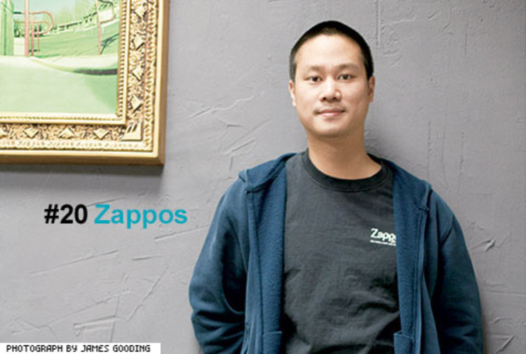 <p> Zappos has made a habit of going to extremes. The online shoe seller gives free shipping on all purchases -- both ways. It has a 365-day return policy, in case you spend months agonizing over those Naughty Monkey Jungle Fury pumps. And new employees are actually offered a $2,000 bonus to quit after a four-week paid training program. &quot;It's best to know early on if an employee doesn't buy into the vision or the culture,&quot; says CEO Tony Hsieh. That counterintuitive human resource strategy and a hyper attention to customer service have helped Zappos grow into a billion-dollar-a-year retailer in less than ten years and, in the process, cultivate a cult following.</p> <p><a href=&quot;http://www.fastcompany.com/fast50_09/profile/list/zappos&quot; target=&quot;_new&quot; title=&quot;Zappos&quot;>-- Read the Full Profile</a></p>  <p><strong>The Fast Company 50 Navigation:</strong><br /> <a href=&quot;http://www.fastcompany.com/multimedia/slideshows/content/2009-fast-company-50.html?page=2&quot; title=&quot;Team Obama&quot;>01</a> | <a href=&quot;http://www.fastcompany.com/multimedia/slideshows/content/2009-fast-company-50.html?page=3&quot; title=&quot;Google&quot;>02</a> | <a href=&quot;http://www.fastcompany.com/multimedia/slideshows/content/2009-fast-company-50.html?page=4&quot; title=&quot;Hulu&quot;>03</a> | <a href=&quot;http://www.fastcompany.com/multimedia/slideshows/content/2009-fast-company-50.html?page=5&quot; title=&quot;Apple&quot;>04</a> | <a href=&quot;http://www.fastcompany.com/multimedia/slideshows/content/2009-fast-company-50.html?page=6&quot; title=&quot;Cisco Systems&quot;>05</a> | <a href=&quot;http://www.fastcompany.com/multimedia/slideshows/content/2009-fast-company-50.html?page=7&quot; title=&quot;Intel&quot;>06</a> | <a href=&quot;http://www.fastcompany.com/multimedia/slideshows/content/2009-fast-company-50.html?page=8&quot; title=&quot;Pure Digital Technologies&quot;>07</a> | <a href=&quot;http://www.fastcompany.com/multimedia/slideshows/content/2009-fast-company-50.html?page=9&quot; title=&quot;WuXi PharmaTech&quot;>08</a> | <a href=&quot;http://www.fastcompany.com/multimedia/slideshows/content/2009-fast-company-50.html?page=10&quot; title=&quot;Amazon&quot;>09</a> | <a href=&quot;http://www.fastcompany.com/multimedia/slideshows/content/2009-fast-company-50.html?page=11&quot; title=&quot;Ideo&quot;>10</a> <br /> <a href=&quot;http://www.fastcompany.com/multimedia/slideshows/content/2009-fast-company-50.html?page=12&quot; title=&quot;GE&quot;>11</a> | <a href=&quot;http://www.fastcompany.com/multimedia/slideshows/content/2009-fast-company-50.html?page=13&quot; title=&quot;Hewlett-Packard&quot;>12</a> | <a href=&quot;http://www.fastcompany.com/multimedia/slideshows/content/2009-fast-company-50.html?page=14&quot; title=&quot;Nokia&quot;>13</a> | <a href=&quot;http://www.fastcompany.com/multimedia/slideshows/content/2009-fast-company-50.html?page=15&quot; title=&quot;Gilead Sciences&quot;>14</a> | <a href=&quot;http://www.fastcompany.com/multimedia/slideshows/content/2009-fast-company-50.html?page=16&quot; title=&quot;Facebook&quot;>15</a> | <a href=&quot;http://www.fastcompany.com/multimedia/slideshows/content/2009-fast-company-50.html?page=17&quot; title=&quot;NextEra Energy Resources&quot;>16</a> | <a href=&quot;http://www.fastcompany.com/multimedia/slideshows/content/2009-fast-company-50.html?page=18&quot; title=&quot;Q-Cells&quot;>17</a> | <a href=&quot;http://www.fastcompany.com/multimedia/slideshows/content/2009-fast-company-50.html?page=19&quot; title=&quot;First Solar&quot;>18</a> | <a href=&quot;http://www.fastcompany.com/multimedia/slideshows/content/2009-fast-company-50.html?page=20&quot; title=&quot;IBM&quot;>19</a> | <a href=&quot;http://www.fastcompany.com/multimedia/slideshows/content/2009-fast-company-50.html?page=21&quot; title=&quot;Zappos&quot;>20</a> <br /> <a href=&quot;http://www.fastcompany.com/multimedia/slideshows/content/2009-fast-company-50.html?page=22&quot; title=&quot;Nintendo&quot;>21</a> | <a href=&quot;http://www.fastcompany.com/multimedia/slideshows/content/2009-fast-company-50.html?page=23&quot; title=&quot;Disney&quot;>22</a> | <a href=&quot;http://www.fastcompany.com/multimedia/slideshows/content/2009-fast-company-50.html?page=24&quot; title=&quot;Crispin Porter + Bogusky&quot;>23</a> | <a href=&quot;http://www.fastcompany.com/multimedia/slideshows/content/2009-fast-company-50.html?page=25&quot; title=&quot;TBWA\Worldwide&quot;>24</a> | <a href=&quot;http://www.fastcompany.com/multimedia/slideshows/content/2009-fast-company-50.html?page=26&quot; title=&quot;New England Sports Ventures&quot;>25</a> | <a href=&quot;http://www.fastcompany.com/multimedia/slideshows/content/2009-fast-company-50.html?page=27&quot; title=&quot;DSM&quot;>26</a> | <a href=&quot;http://www.fastcompany.com/multimedia/slideshows/content/2009-fast-company-50.html?page=28&quot; title=&quot;Nike&quot;>27</a> | <a href=&quot;http://www.fastcompany.com/multimedia/slideshows/content/2009-fast-company-50.html?page=29&quot; title=&quot;NPR&quot;>28</a> | <a href=&quot;http://www.fastcompany.com/multimedia/slideshows/content/2009-fast-company-50.html?page=30&quot; title=&quot;Barbarian Group&quot;>29</a> | <a href=&quot;http://www.fastcompany.com/multimedia/slideshows/content/2009-fast-company-50.html?page=31&quot; title=&quot;W.L. Gore & Associates&quot;>30</a> <br /> <a href=&quot;http://www.fastcompany.com/multimedia/slideshows/content/2009-fast-company-50.html?page=32&quot; title=&quot;Busboy Productions&quot;>31</a> | <a href=&quot;http://www.fastcompany.com/multimedia/slideshows/content/2009-fast-company-50.html?page=33&quot; title=&quot;Skidmore, Owings & Merrill&quot;>32</a> | <a href=&quot;http://www.fastcompany.com/multimedia/slideshows/content/2009-fast-company-50.html?page=34&quot; title=&quot;Wal-Mart&quot;>33</a> | <a href=&quot;http://www.fastcompany.com/multimedia/slideshows/content/2009-fast-company-50.html?page=35&quot; title=&quot;Microsoft&quot;>34</a> | <a href=&quot;http://www.fastcompany.com/multimedia/slideshows/content/2009-fast-company-50.html?page=36&quot; title=&quot;Ubisoft&quot;>35</a> | <a href=&quot;http://www.fastcompany.com/multimedia/slideshows/content/2009-fast-company-50.html?page=37&quot; title=&quot;Vestas&quot;>36</a> | <a href=&quot;http://www.fastcompany.com/multimedia/slideshows/content/2009-fast-company-50.html?page=38&quot; title=&quot;Chevron Energy Solutions&quot;>37</a> | <a href=&quot;http://www.fastcompany.com/multimedia/slideshows/content/2009-fast-company-50.html?page=39&quot; title=&quot;CAA&quot;>38</a> | <a href=&quot;http://www.fastcompany.com/multimedia/slideshows/content/2009-fast-company-50.html?page=40&quot; title=&quot;L-3 Communications&quot;>39</a> | <a href=&quot;http://www.fastcompany.com/multimedia/slideshows/content/2009-fast-company-50.html?page=41&quot; title=&quot;Weta Digital&quot;>40</a> <br /> <a href=&quot;http://www.fastcompany.com/multimedia/slideshows/content/2009-fast-company-50.html?page=42&quot; title=&quot;Lego&quot;>41</a> | <a href=&quot;http://www.fastcompany.com/multimedia/slideshows/content/2009-fast-company-50.html?page=43&quot; title=&quot;Emirates&quot;>42</a> | <a href=&quot;http://www.fastcompany.com/multimedia/slideshows/content/2009-fast-company-50.html?page=44&quot; title=&quot;Genzyme&quot;>43</a> | <a href=&quot;http://www.fastcompany.com/multimedia/slideshows/content/2009-fast-company-50.html?page=45 title=&quot;Etsy&quot;>44</a> | <a href=&quot;http://www.fastcompany.com/multimedia/slideshows/content/2009-fast-company-50.html?page=46&quot; title=&quot;BYD&quot;>45</a> | <a href=&quot;http://www.fastcompany.com/multimedia/slideshows/content/2009-fast-company-50.html?page=47&quot; title=&quot;Warner Music Group&quot;>46</a> | <a href=&quot;http://www.fastcompany.com/multimedia/slideshows/content/2009-fast-company-50.html?page=48&quot; title=&quot;Aravind Eye Care System&quot;>47</a> | <a href=&quot;http://www.fastcompany.com/multimedia/slideshows/content/2009-fast-company-50.html?page=49&quot; title=&quot;Toyota&quot;>48</a> | <a href=&quot;http://www.fastcompany.com/multimedia/slideshows/content/2009-fast-company-50.html?page=50&quot; title=&quot;Pelamis Wave Power&quot;>49</a> | <a href=&quot;http://www.fastcompany.com/multimedia/slideshows/content/2009-fast-company-50.html?page=51&quot; title=&quot;Raser Technologies&quot;>50</a></p>